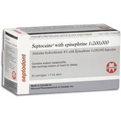 Septocaine (Articaine) EPI 1:200