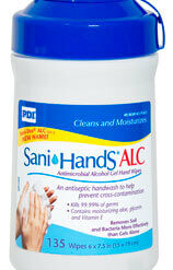 Sani-Hands ALC Antimicrobial Alcohol Hand Wipes